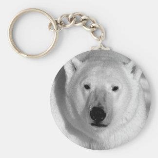 Negro y oso polar de la pizca llavero redondo tipo pin