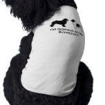 Negro y perros de Landseer Terranova Prenda Mascota