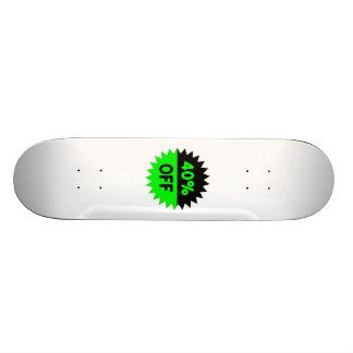 Negro y ponga verde el 40 por ciento apagado patines personalizados