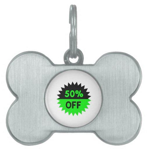 Negro y ponga verde el 50 por ciento apagado placas de nombre de mascota