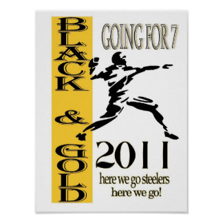 negro y poster del oro