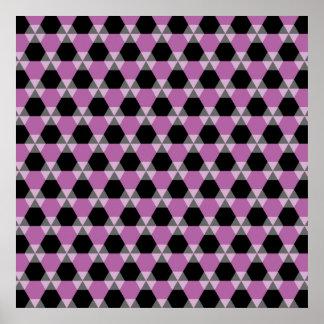 Negro y poster del Triángulo-Maleficio de la