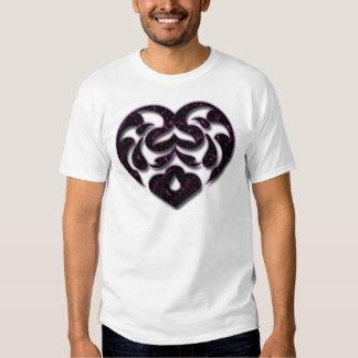 NEGRO Y PURPLE HEART POLERAS