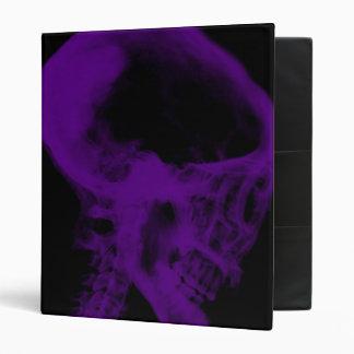 """Negro y púrpura de la radiografía del cráneo carpeta 1"""""""