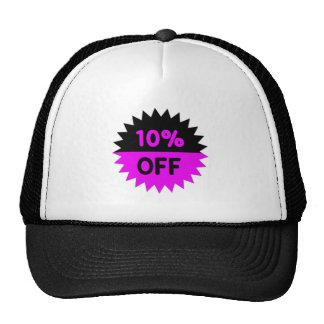 Negro y púrpura el 10 por ciento apagado gorra
