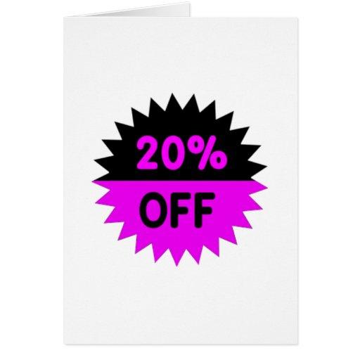 Negro y púrpura el 20 por ciento apagado felicitacion