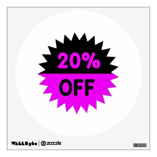 Negro y púrpura el 20 por ciento apagado vinilo