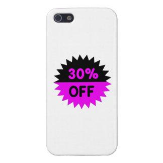 Negro y púrpura el 30 por ciento apagado iPhone 5 carcasas