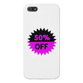 Negro y púrpura el 50 por ciento apagado iPhone 5 coberturas