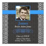 Negro y rancio elegantes - la graduación invita invitación 13,3 cm x 13,3cm