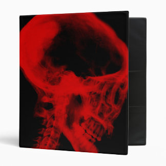 """Negro y rojo de la radiografía del cráneo carpeta 1"""""""