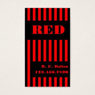 Negro y rojo de la raya tarjeta de negocios