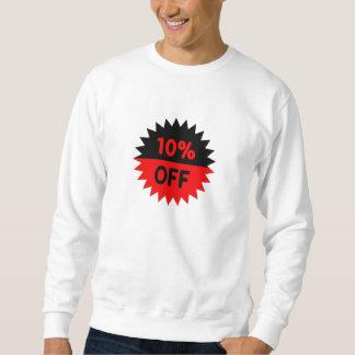 Negro y rojo el 10 por ciento apagado suéter