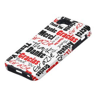 Negro y rojo gracias redactar la nube iPhone 5 carcasas