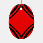 Negro y rojo por el tala ornaments para arbol de navidad