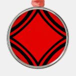 Negro y rojo por el tala ornamento para reyes magos