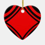 Negro y rojo por el tala ornamentos para reyes magos