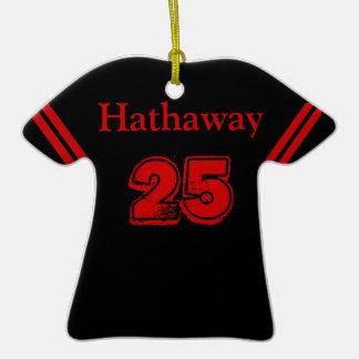 Negro y rojo se divierte el ornamento del jersey adornos
