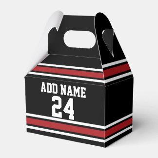 Negro y rojo se divierte número conocido de caja para regalo de boda