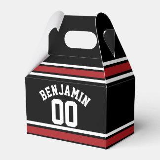 Negro y rojo se divierte número conocido de cajas para regalos