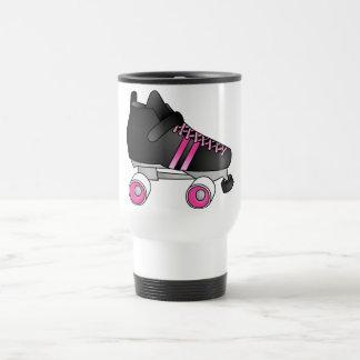 Negro y rosa del patín de Derby del rodillo Taza Térmica