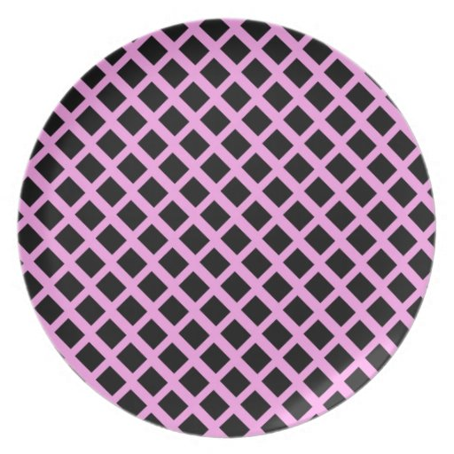 Negro y rosa plato de comida