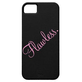 Negro y rosa sin defectos del texto iPhone 5 carcasas