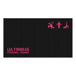 Negro y rosa, tarjeta de visita personal del instr