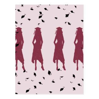 Negro y siluetas femeninas del graduado de Borgoña Postal