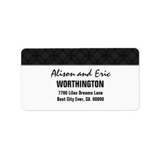 Negro y simple etiquetas de dirección