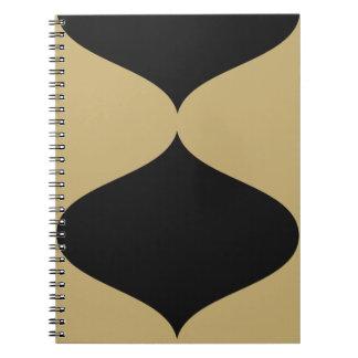 Negro y Smooch del oro Cuadernos