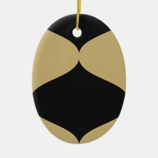 Negro y Smooch del oro Ornamento Para Arbol De Navidad