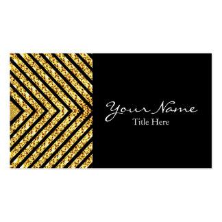 Negro y tarjeta de visita del brillo del oro