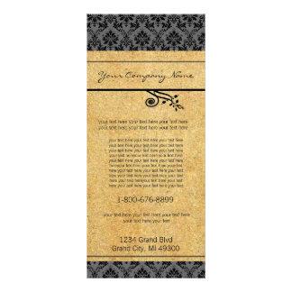 Negro y tarjeta del estante del damasco del oro lonas