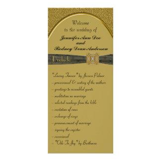 Negro y tarjeta del estante del programa del boda lona publicitaria
