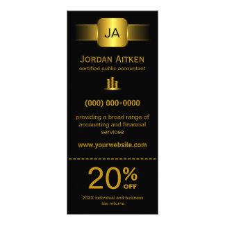 Negro y tarjetas del estante del oro con la cupón  lonas publicitarias
