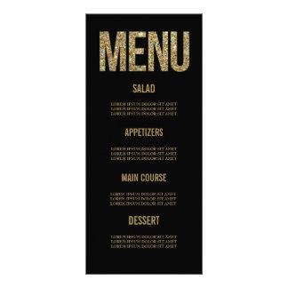 Negro y tarjetas del menú del boda de la tarjeta publicitaria