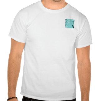 Negro y turquesa florales camisetas
