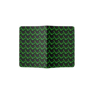Negro y verde de neón del modelo de Chevron Porta Pasaportes