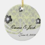 negro y verde lima damask.ai ornamente de reyes