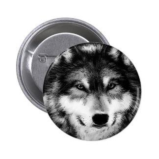 Negro y White Wolf Pin