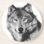 Negro y White Wolf Posavasos Manualidades