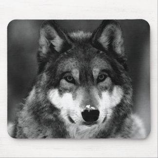 Negro y White Wolf Alfombrilla De Ratones