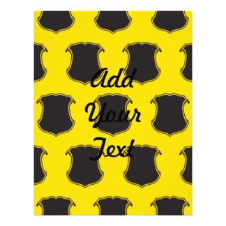 Negro Yellow.ai del escudo del escudo Flyer Personalizado