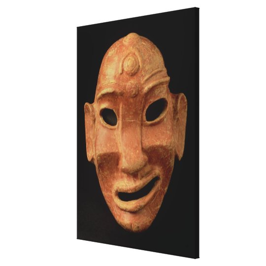 Negroid mask from Carthage, 7th-6th century BC (te Canvas Print