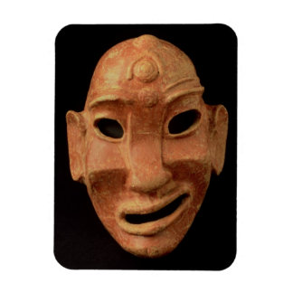 Negroid mask from Carthage, 7th-6th century BC (te Rectangular Photo Magnet