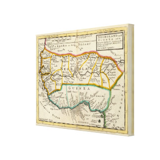 Negroland y Guinea Impresión En Lienzo