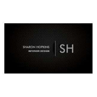 Negros llanos simples elegantes modernos alisan tarjetas de visita