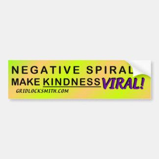 NegSpiral-VIRAL Bumper Sticker