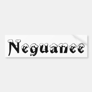 Neguanee Michigan Snow Bumper Sticker